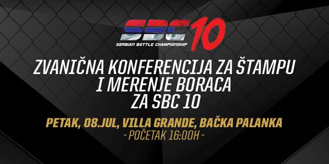 Poziv za zvaničnu konferenciju za štampu i merenje boraca za SBC 10