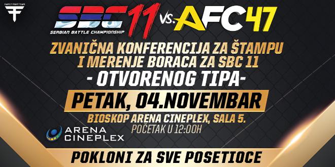 SBC 11 vs AFC 47 – Poziv na zvanično merenje i konferencija za štampu