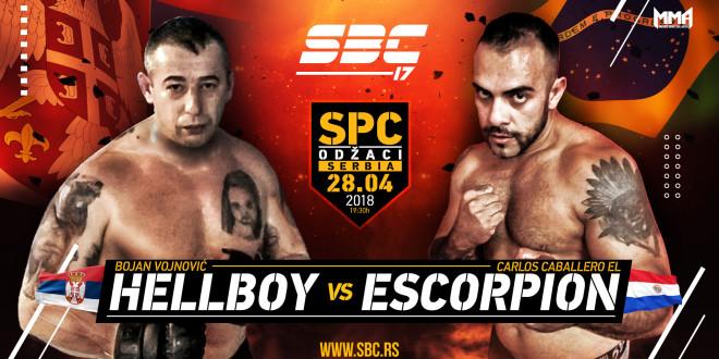 """SBC 17 – Bojan """"Hellboy"""" Vojnović vs Carlos """"El Escorpion"""" Caballero"""