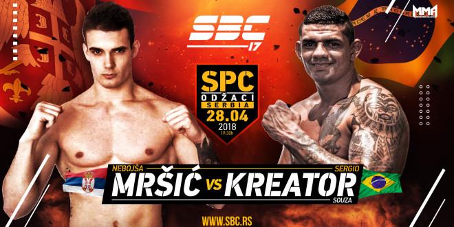 """SBC 17 – Nebojša Mršić vs Sergio """"Kreator"""" Souza"""