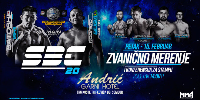 SBC 20 – Official weigh-in, Hotel Andrić, Sombor