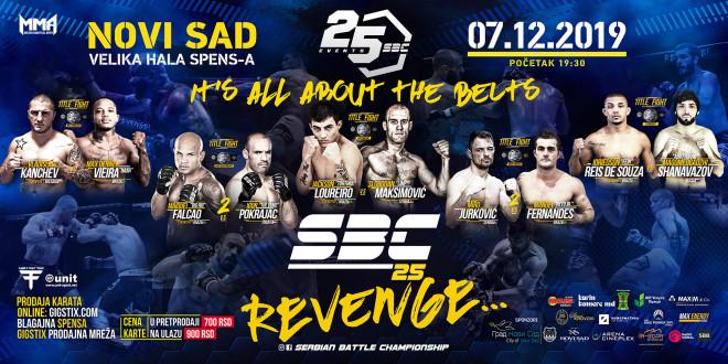 SBC 25, Revenge! 07.12.2019. SPENS, Velika hala, Novi Sad