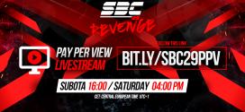 SBC 29 Revenge / PPV Livestream prenos