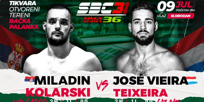SBC 31 & MMA Series 36, Miladin Kolarski vs Jose Vieira Teixeira