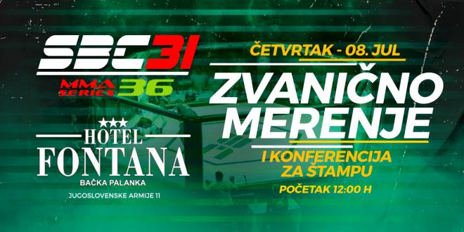 SBC 31 & MMA Series 36, Zvanično merenje i konferencija za štampu