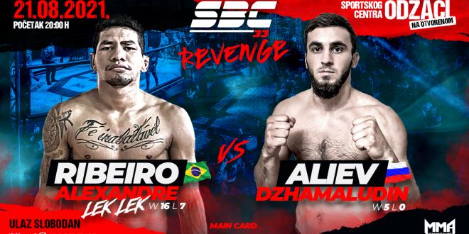 """SBC 33 Revenge, Alexandre """"Lek Lek"""" Ribeiro vs Dzhamaludin Aliev"""