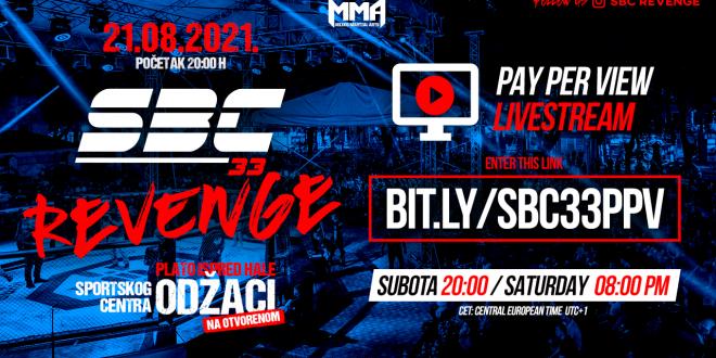 SBC 33 Revenge, PPV Livestream