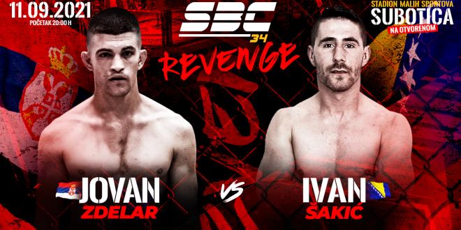 SBC 34 Revenge, Jovan Zdelar vs Ivan Šakić