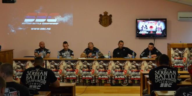 Zvanična konferencija za štampu i merenje boraca za SBC 9