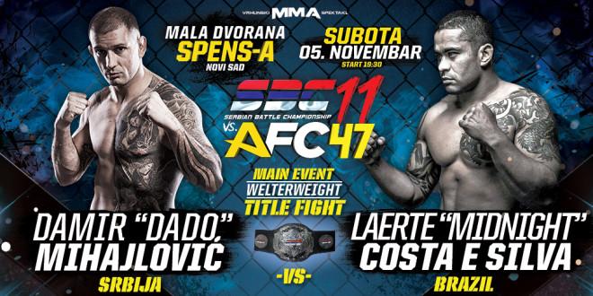 "Main Event – Damir ""Dado"" Mihajlović vs Laerte ""Midnight"" Costa e Silva – SBC Welterweight Title fight -77 kg"
