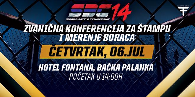 SBC 14  – Poziv na zvanično merenje i konferenciju za štampu