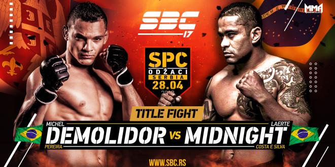 """SBC 17 – Michel """"Demolidor"""" Pereira vs Laerte """"Midnight"""" Costa E Silva"""