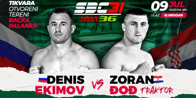 SBC 31 & MMA Series 36, Denis Ekimov vs Zoran Đođ