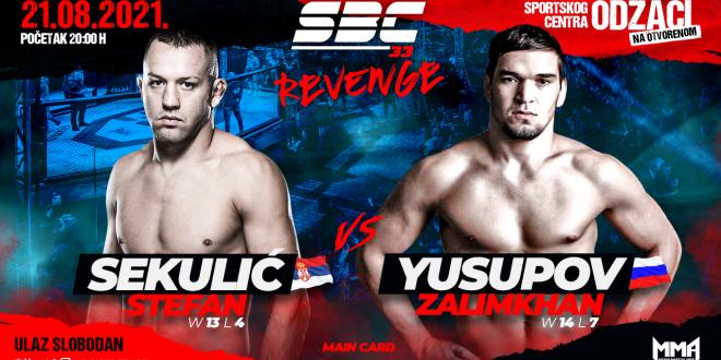 SBC 33 Revenge, STEFAN SEKULIĆ vs. ZALIMKHAN YUSUPOV